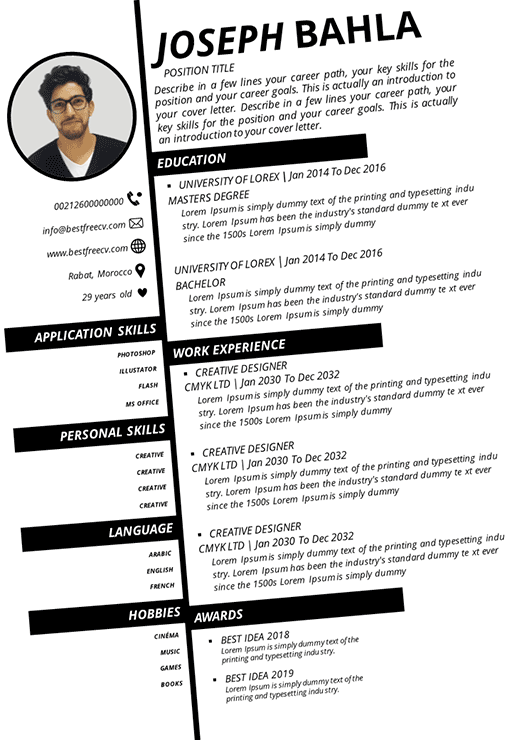 Outstanding diagonal resume