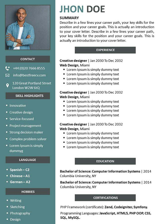 CV PowerPoint to Download