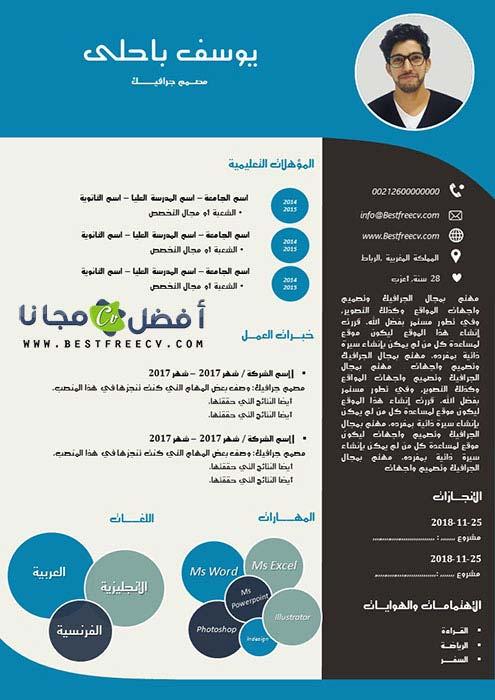 سيرة ذاتية بالعربية سهلة التعديل