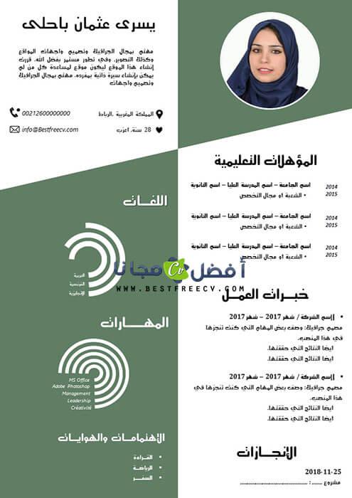 نموذج سيرة ذاتية خلابة بالعربية