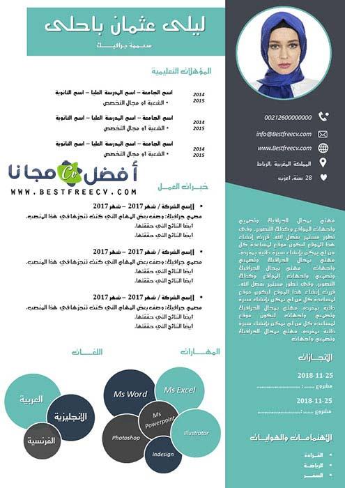 نموذج حديث لسيرة ذاتية بالعربي